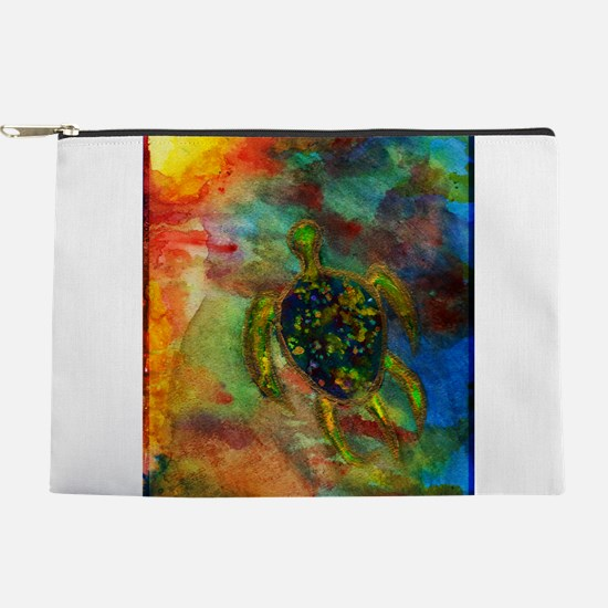 Green Turtle Makeup Pouch