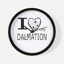 Black White Dalmation Wall Clock