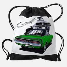 EC83Charger69 dk green.psd Drawstring Bag