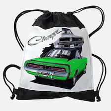 EC83Charger69 green.psd Drawstring Bag