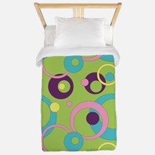 Funky Green Circles Twin Duvet