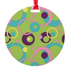 Funky Green Circles Ornament