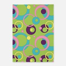 Funky Green Circles 5'x7'Area Rug