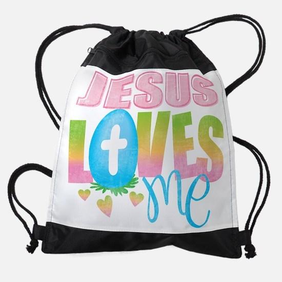 Jesus Loves Me.png Drawstring Bag