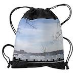 niagara winter am falls calendar 23 Drawstring Bag