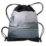 niagara winter cad rapids calendar  Drawstring Bag