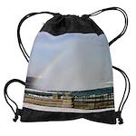 niagara winter cad rainbow calendar Drawstring Bag
