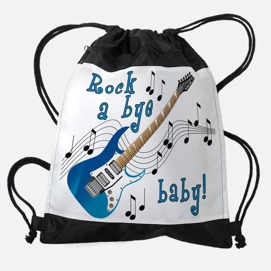 RockAByeBabyBlue.png Drawstring Bag