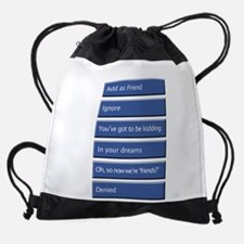 Face_B_For_Black.png Drawstring Bag
