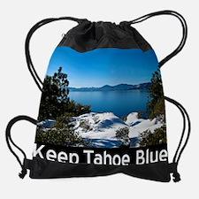 Cute Keep tahoe blue Drawstring Bag