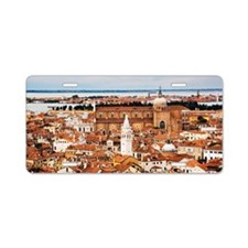 Overview of Venice, Italy Aluminum License Plate
