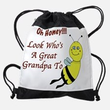 Oh_Honey_GreatGrandpaToBe.jpg Drawstring Bag