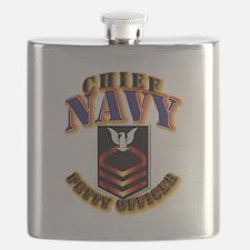 NAVY - CPO Flask