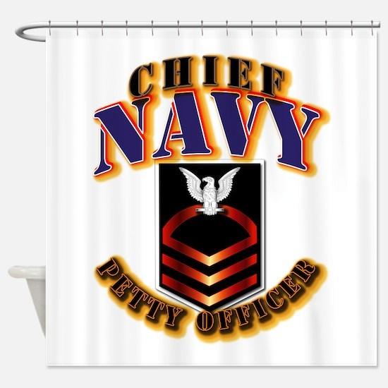 NAVY - CPO Shower Curtain