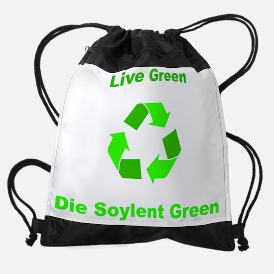 live-soylent-green.png Drawstring Bag