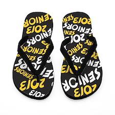 Black Yellow White Senior Class OF 2013 Flip Flops