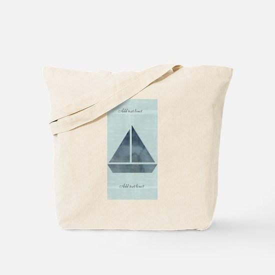 Cute Sailor Mint Boat Nautical Tote Bag