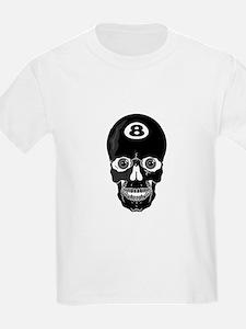 Eight Ball (8 Ball) Skull Kids T-Shirt