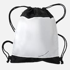 face.black.png Drawstring Bag
