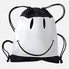 face.white.png Drawstring Bag