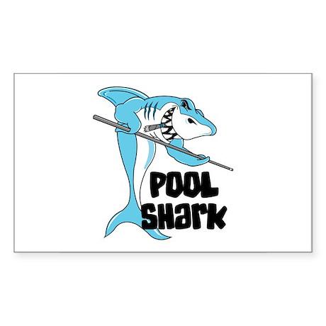 Pool Shark Rectangle Sticker