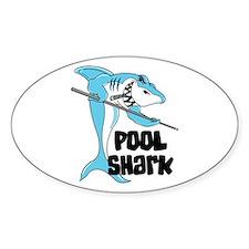 Pool Shark Oval Decal