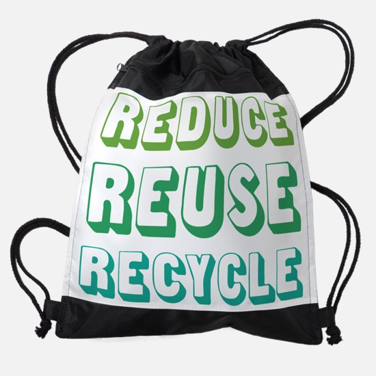 Reduce Reuse Recycle Drawstring Bag