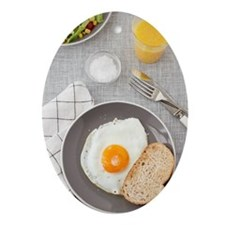 Fried egg and toast Ornament (Oval)