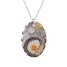Fried egg and toast Necklace