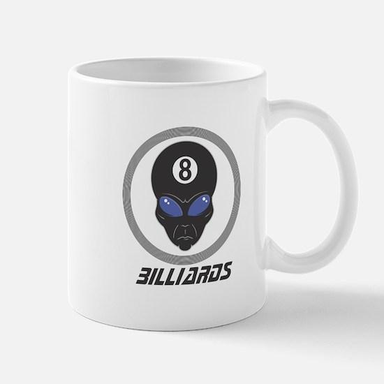 Billiards (Pool) Alien Head Design Mug