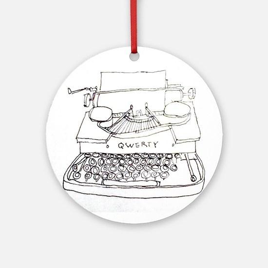 Typewriter Ornament (Round)