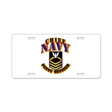 NAVY - CPO - Gold Aluminum License Plate