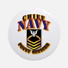 NAVY - CPO - Gold Ornament (Round)