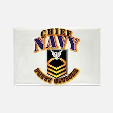 NAVY - CPO - Gold Rectangle Magnet