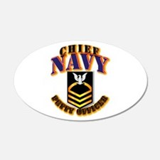NAVY - CPO - Gold Wall Decal