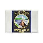 Niagara Falls Police K9 Rectangle Magnet