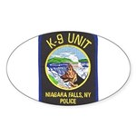 Niagara Falls Police K9 Oval Sticker