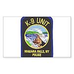 Niagara Falls Police K9 Rectangle Sticker