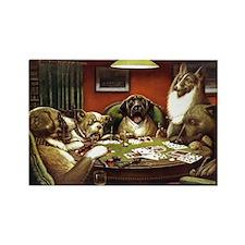 Waterloo Dog Poker Rectangle Magnet