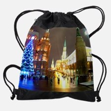 Cute Moscow russia Drawstring Bag