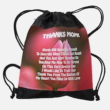 5-Thnks Mom wrds  cal.jpg Drawstring Bag