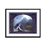 Celtic Maiden Awaits Framed Panel Print