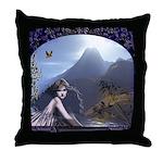 Celtic Maiden Awaits Throw Pillow
