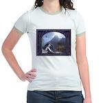 Celtic Maiden Awaits Jr. Ringer T-Shirt