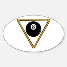 Eight Ball and Rack Oval Decal