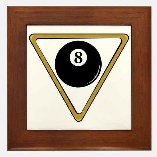 Eight Ball and Rack Framed Tile