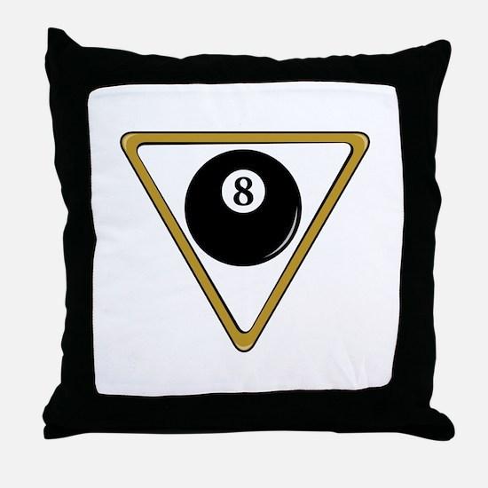 Eight Ball and Rack Throw Pillow