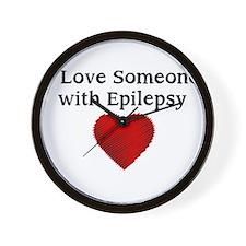 I love someone with epilepsy Wall Clock
