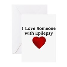 I love someone with epilepsy Greeting Cards (Pk of