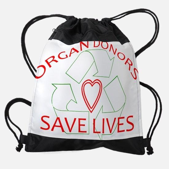 ORGAN DONORS.png Drawstring Bag